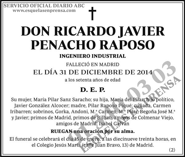 Ricardo Javier Penacho Rasposo
